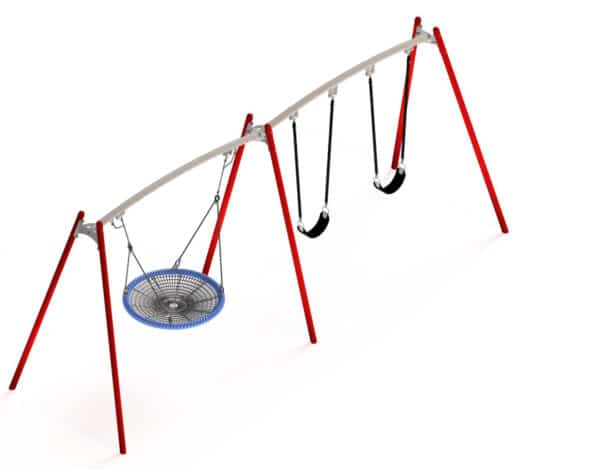 Flying Saucer – Double Frame - 1200mm Basket & 2 Standard Seats