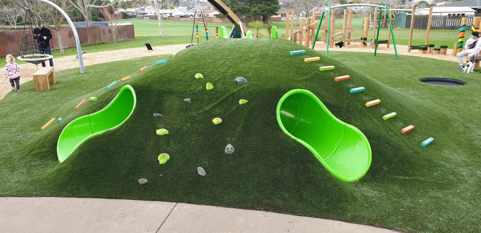 Tunnel Through Playground Mound