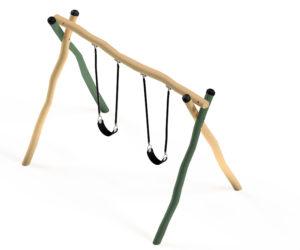 2-Bay Wobbly Wood Swing