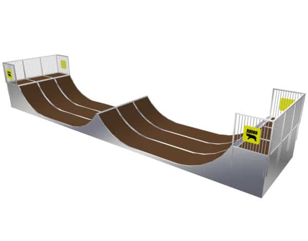 Halfpipe with Spine - 1.5 x 3.6m