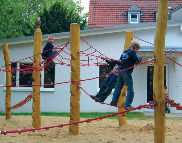 Wobbly Wood Rope Course