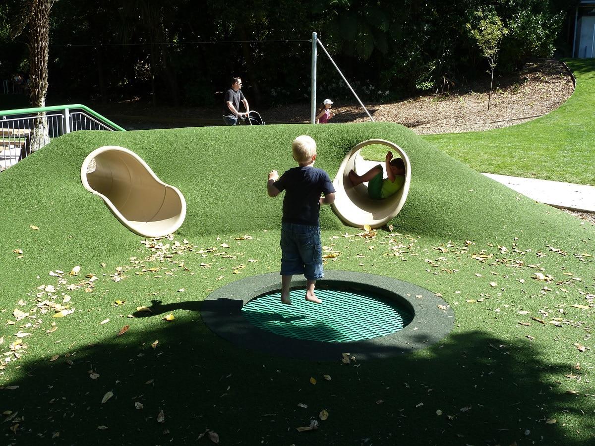 Tunnel Through Mound Playground Centre