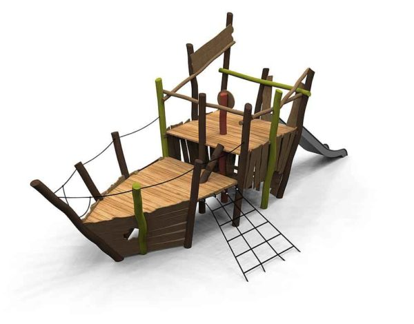 Wobbly Wood Pirate Ship Jago