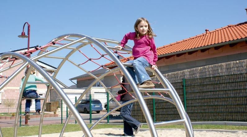 Building hand-eye coordination with climbing nets