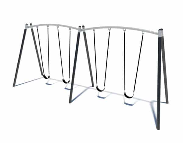 4-Bay Mega Swing Steel