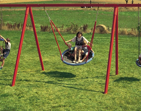 Swing Frame Combi - Metal 4-Bay