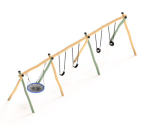 Flying Saucer - Wobbly Wood Triple Frame