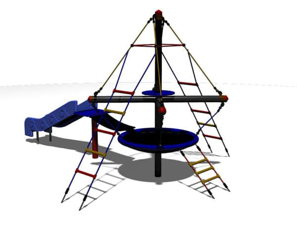 2.5M Toddler Pirate Tower with Bridge & Slide