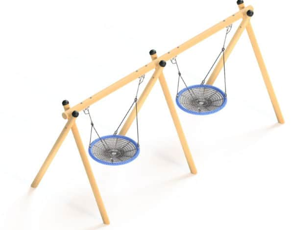 Flying Saucer - Timba Double Frame with 2x 1200mm Baskets