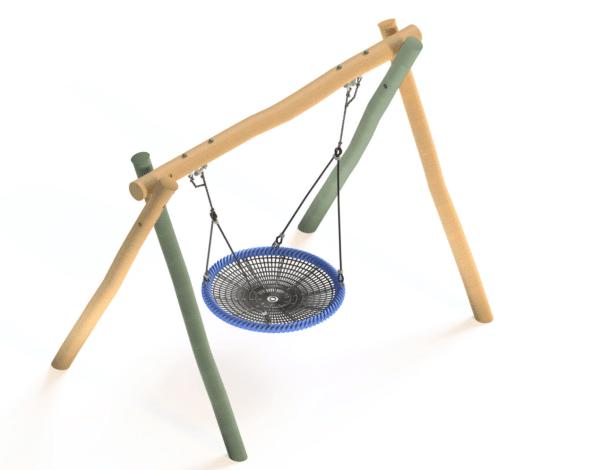 Flying Saucer - Wobbly Wood Frame