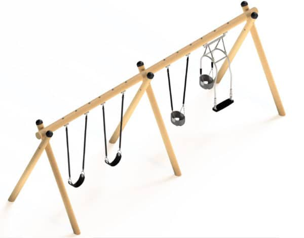 4 bay Timbaplay Swing with Expression Seat