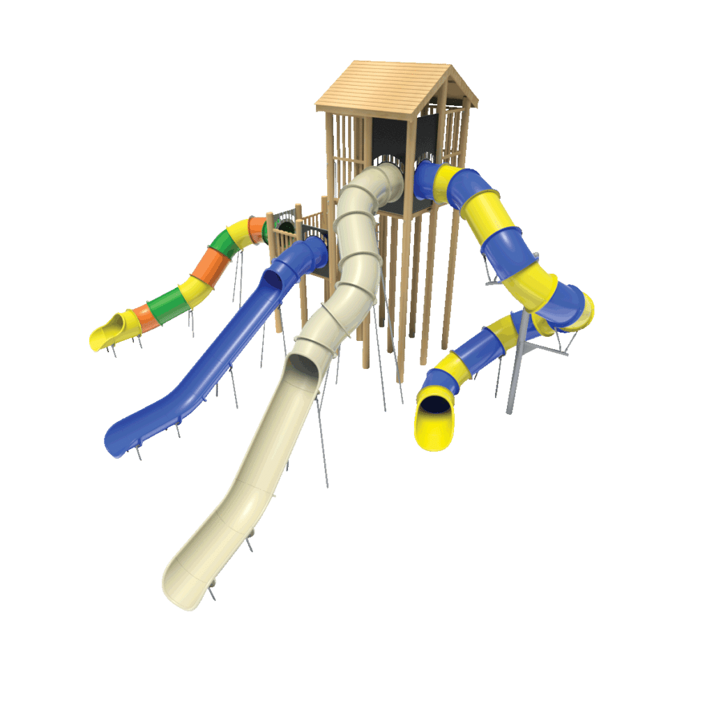 Playground Tube & Chute Slide