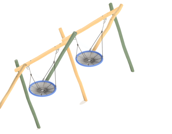Flying Saucer – Wobbly Wood Double Frame with 2x 1200mm Baskets
